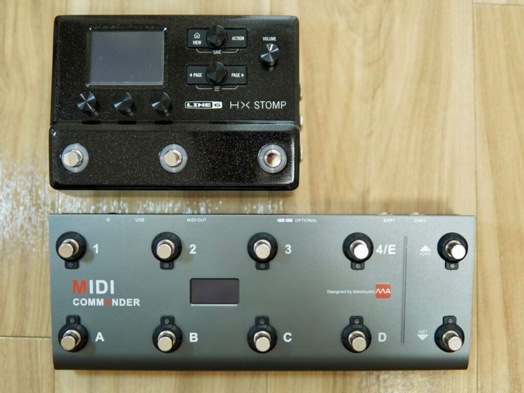 MIDI CommenderとHX Stomp比較